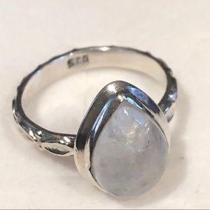 Pretty Girl Swag Jewelry Jewelry - .925S Artisan Crafted Rainbow Moonstone Ring Sz 7
